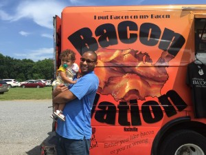 daddy and E in front of the bacon nation truck (1)