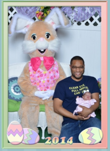daddy, emerson and the easter bunny