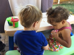 jace and E at snacktime (1)